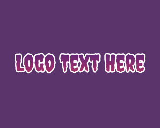 Epic - Purple Horror Font logo design