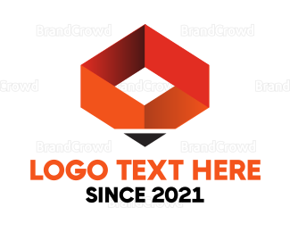 Phd - Orange Pen Box logo design