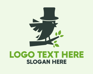 Ecofriendly - Gentleman Bird Conservation logo design