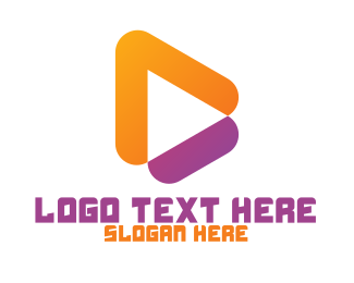 Music - Orange Purple Play logo design