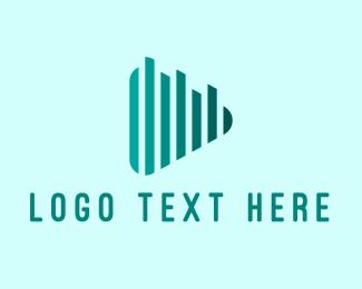 Vlogger - Audio Play Button logo design
