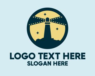 Movies - Lighthouse Films logo design
