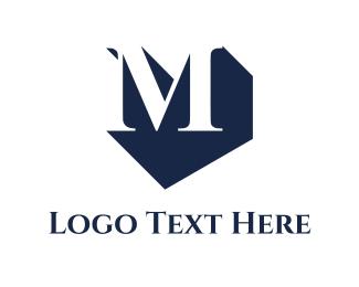 Shadow - M Shadow logo design