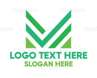 Approval - Green Abstract Letter M logo design