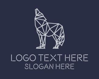 Brand - Wolf Monoline logo design