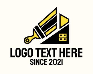 Renovation - Paint Brush Renovation logo design
