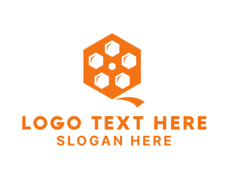 Honeycomb - Hive Reel logo design