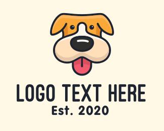 Puppy - Cute Puppy Dog logo design