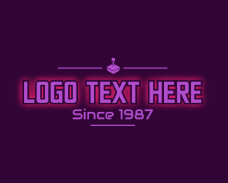 Game Vlog - Retro Gaming Console Text logo design
