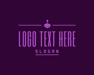 Tetris - Retro Gaming Console Text logo design