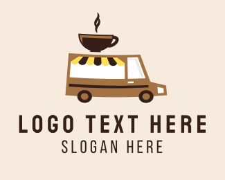 Delivery Service - Coffee Cart Delivery Truck logo design