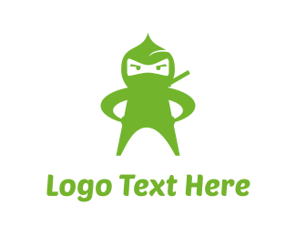 Wow - Green Ninja logo design
