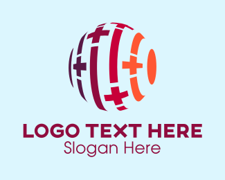 Medical - Medical Cross Globe logo design