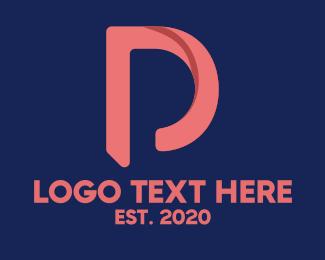 Social Media - Swoosh Letter D logo design