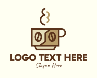 Brewed Coffee - Brewed Coffee Cup logo design