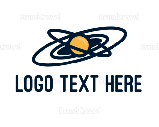 Astral - Yellow Planet logo design