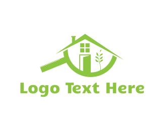 Magnifying Glass - House Finder logo design