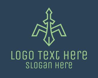 Project - Medieval Sword Letter M logo design