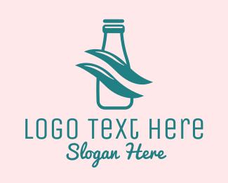 Dairy Farmer - Simple Milk Bottle logo design