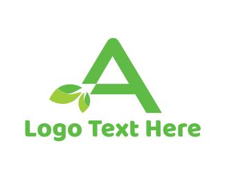 April - Organic Letter A logo design