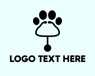 Paw Print - Veterinary Clinic logo design