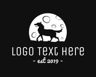 Cinema - Moon Wolf logo design