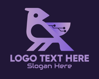 Animal - Gradient Tech Bird logo design