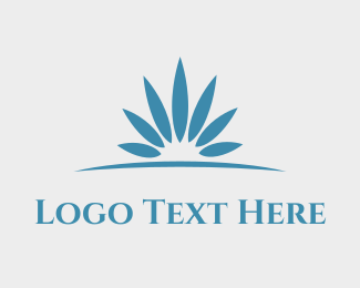 Luxury - Horizon Flower logo design
