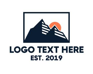 Rock Formation - Mountain Silhouette  logo design
