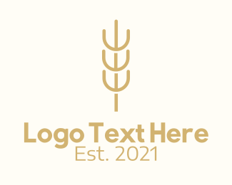 Wheat - Organic Wheat Farm  logo design