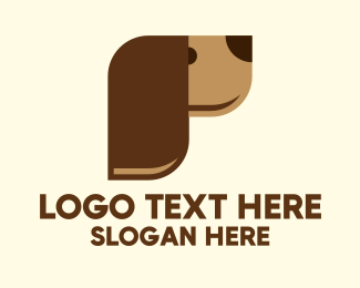 Brown Dog - Modern Brown Dog  logo design