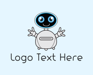 Electrical Devices - Cute Robot logo design