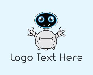 Scifi - Cute Robot logo design