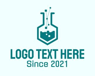 Biotechnology - Pixel Lab Technology logo design