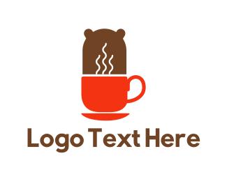 Teddy Bear - Coffee Bear logo design