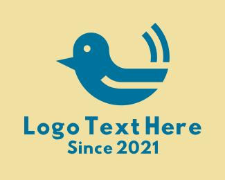 Baby Bird - Cute Baby Bird  logo design