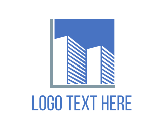 Blue Building - Blue Buildings logo design