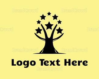 Magic - Star Tree logo design