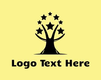 Silver - Star Tree logo design