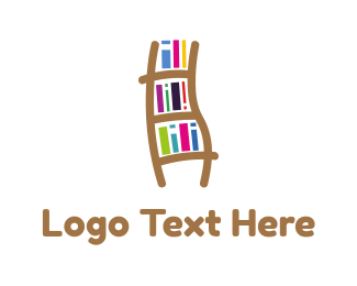 Bookstore - Book Ladder logo design