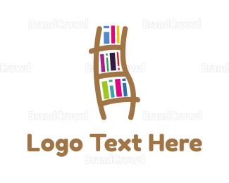 Bookshop - Book Ladder logo design