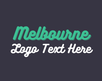 Victoria - Melbourne Wordmark logo design