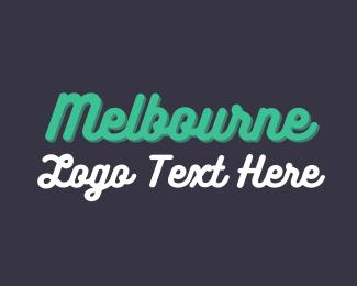 Font - Melbourne Wordmark logo design