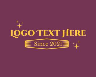 Text - Golden Shiny Text logo design