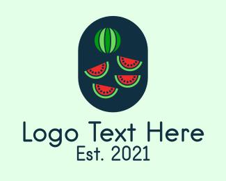 Fresh Fruit - Watermelon Fruit logo design