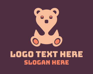 Cuddly - Pink Teddy Bear logo design