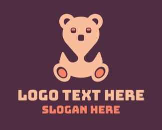 Teddy - Pink Teddy Bear logo design