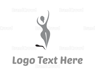 Silhouette - Grey Woman Silhouette logo design