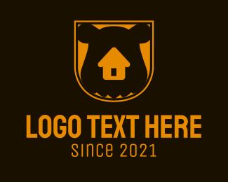 Build - Orange Bear Home logo design