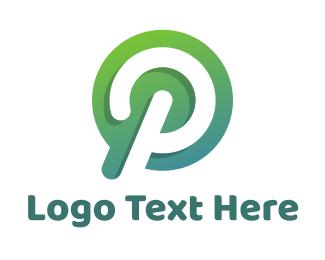 Facebook - Modern Green Letter P logo design